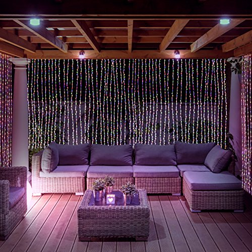 Led Concepts 300 Led Curtain String Icicle Fairy Lights