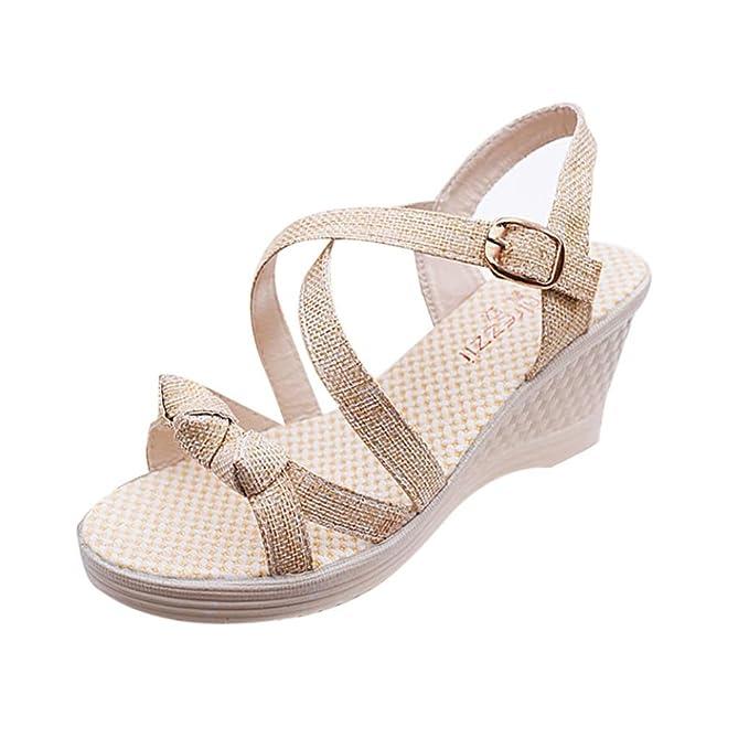 97d8569e7c6f DENER Women Ladies Girls Summer Wedge Sandals