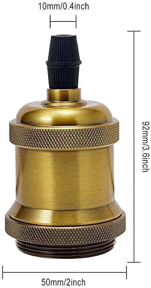 GreenSun LED Lighting 6x Vintage Portalámpara E27 Adaptador de Enchufe de Lámpara Retro LED Socket de Luz para Restaurante, sala de estar, pasillo, cafetería (Latón antiguo): Amazon.es: Bricolaje y herramientas