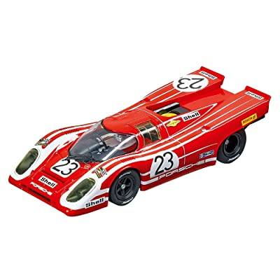 Carrera USA 20027569 Porsche 917K Salzburg No.23 1970 Evolution Analog Slot Car Racing Vehicle 1:32 Scale, Red: Toys & Games