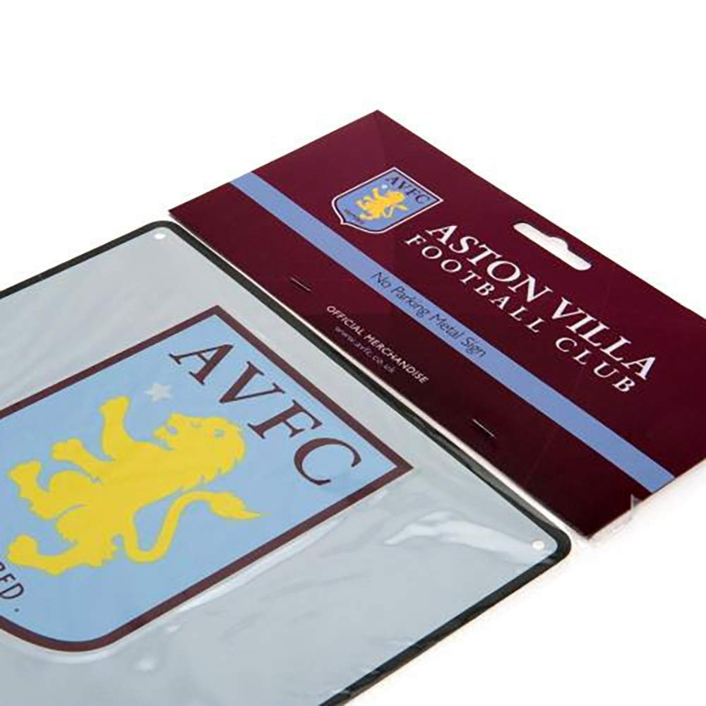 Metal No Parking Sign Official Licensed Aston Villa F.C