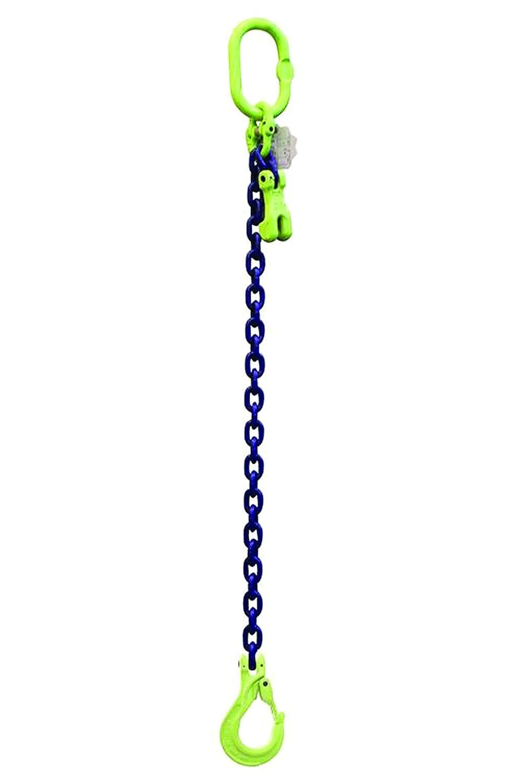 BLP 1-Strang Anschlagkette 1.4t - 6mm - 1 Meter; Gabelkopfhaken + Verkürzungshaken