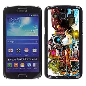 Caucho caso de Shell duro de la cubierta de accesorios de protección BY RAYDREAMMM - Samsung Galaxy Grand 2 - Apertura Juegos Sexy