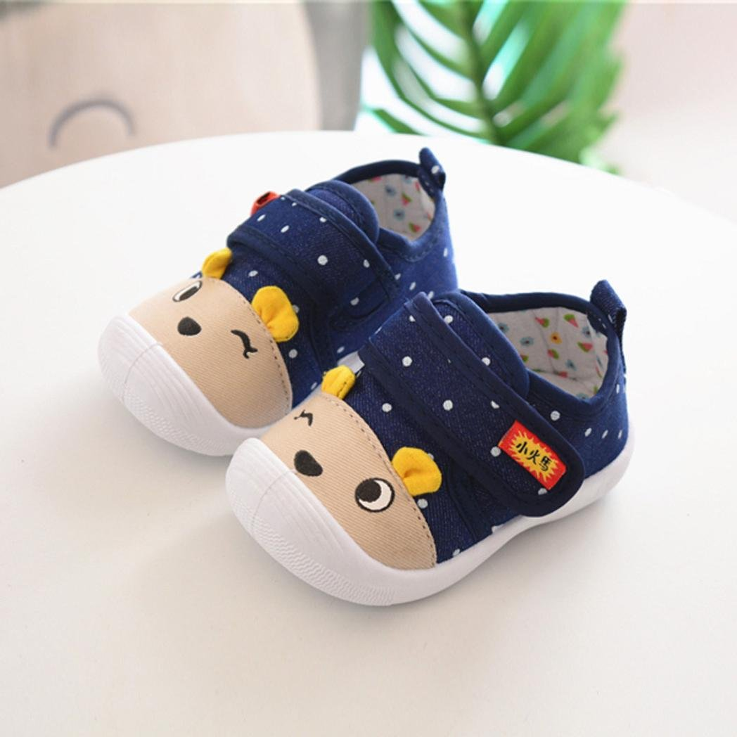 zapatos bebe niño niña Xinantime Infantil Niños Bebés y niñas Sandalias Zapatos antideslizantes de dibujos animados Zapatillas de suela blanda (16, ...