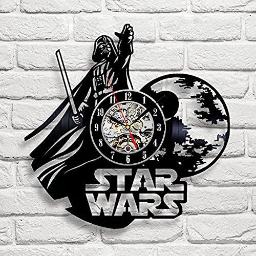 Star Wars Art Vinyl Wall Clock Gift Room Modern Home Record Vintage Decoration