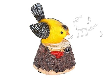 Alsino Oiseau décoratif à détecteur de mouvements Qui siffle et on