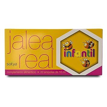 SOTYA Jalea Real Infantil 20 ampollas: Amazon.es: Salud y cuidado ...