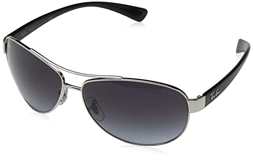 Ray-Ban RB3386 Aviator Sunglasses, Silver/Grey Gradient, 63 mm