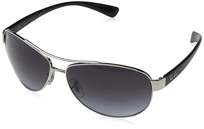 Ray Ban RB3386, Gafas de Sol Unisex, Multicolor (plata/negro, lente: gris 003/8g), X-Large (Talla del fabricante: 63)