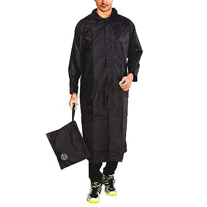 e5e944d7f FOBHIYA™ Polyester Waterproof Raincoat Super Soft Durable Long Rain Jacket  for Men with Adjustable Hood