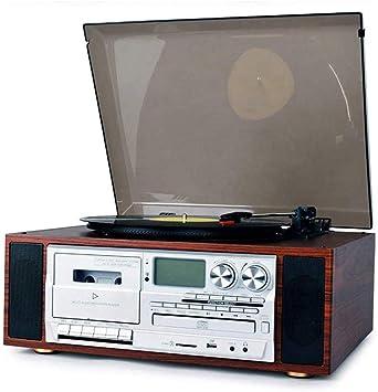 QAZWSX Tocadiscos Retro, con Placa Giratoria De 3 Velocidades Y ...