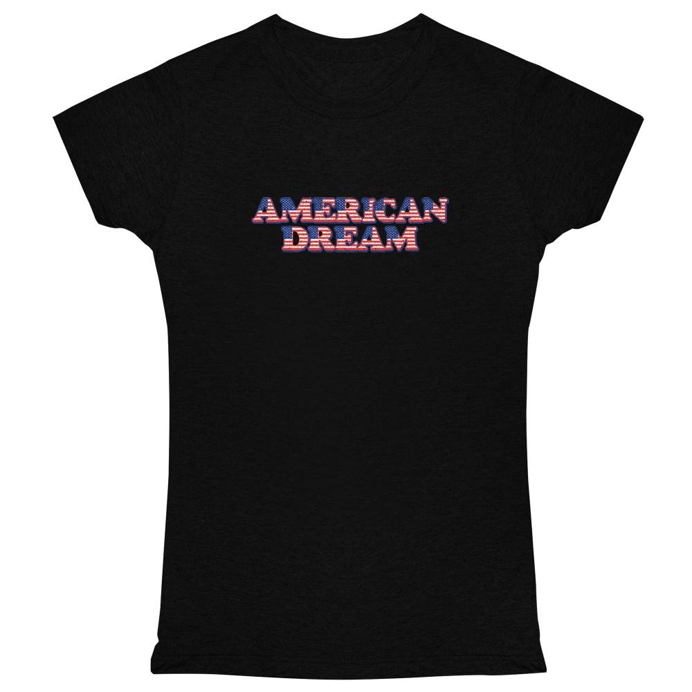 Pop Threads American Dream Black 2XL Womens Tee Shirt