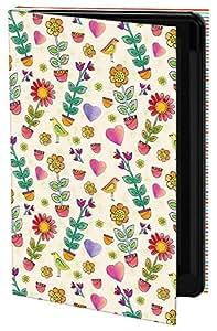 Keka Alex Colombo - Funda rígida tipo libro para Samsung Galaxy S3, diseño de flores y corazones, multicolor