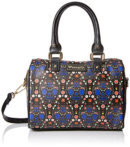 loungefly-lf-bright-sugar-skull-printed-pebble-duffle-blue-black