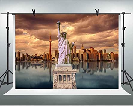Amazon Com Fhzon 10x7ft Statue Of Liberty Picture Background Photography New York City Backdrop Theme Party Photo Booth Props Youtube Backdrops Banner Pfh611 Camera Photo