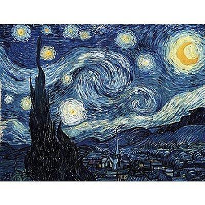 punto de venta Puzzle d'art en Bois 350 pièces Michèle Wilson Wilson Wilson - Van Gogh   Nuit étoilée  40% de descuento