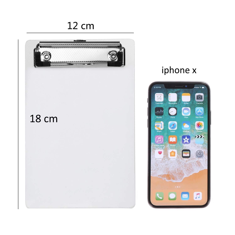 10 Pack Portablocco per appunti mini formato A6 con clip fermafogli tascabile