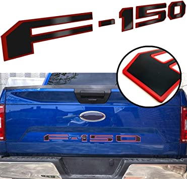 YOUTEER Tailgate Insert Letters for Ford F150 2018-2020 with Adhesive 3D Raised Tailgate Decal Letters Tailgate Insert Decals Letters Red