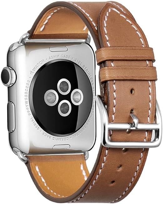 Imagen deiStrap Pulsera Compatible para Apple Watch 38mm 40mm 42mm 44mm Correa Cuero para Compatible iWatch para iWatch Series 4,Series 3,Series 2,Series 1