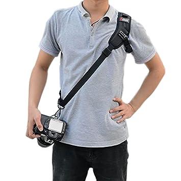 ddbce1a6e66 EQLEF® Camera Shoulder Sling Black Belt Strap for Digital SLR DSLR Damping  Strap (
