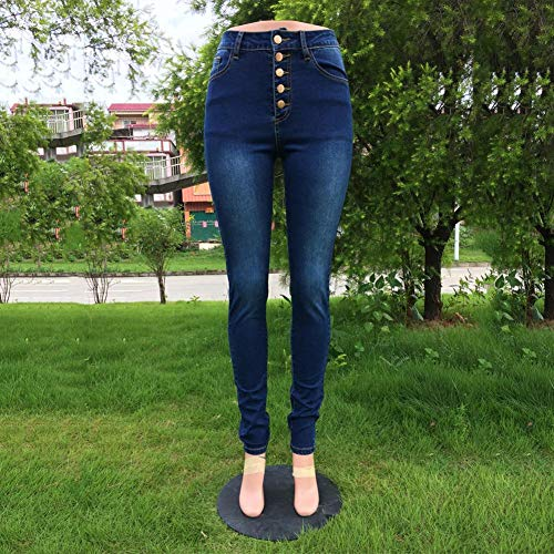para Pants Augustmarie Mujer Stretch Denim Botones Stretch Skinny Lifting Butt 5 Curvy Jeans qxRUnTC