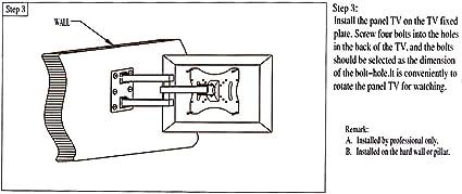 Rayinblue compacto inclinación soporte de pared para televisor ...