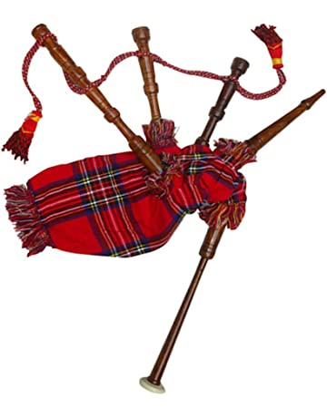 8a7b49949e34 New Baby Mini Bagpipe Toy Playable Beginner Rose wood Royal Stewart Cover    Cord Free 2