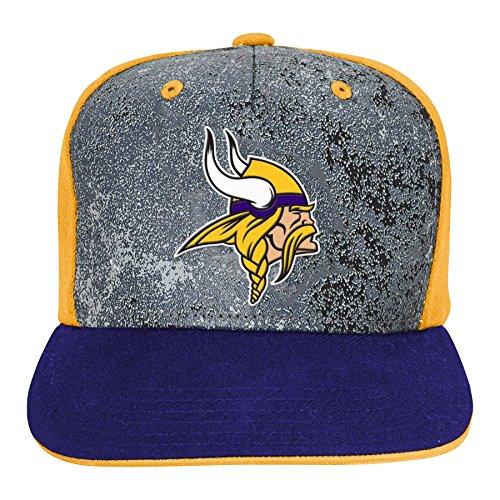 NFL Minnesota Vikings Boys Magna Flatbrim Snapback, Regal Purple, One Size