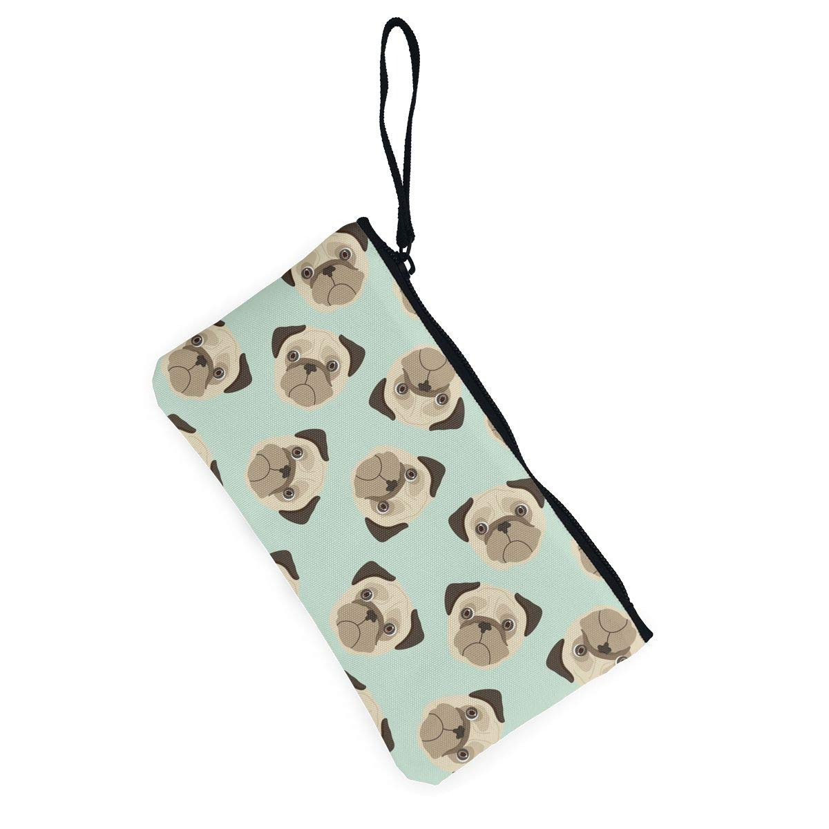 Cartoon Dog Puppies Pattern Canvas Change Coin Purse Assorted Wallet Bag With Zip