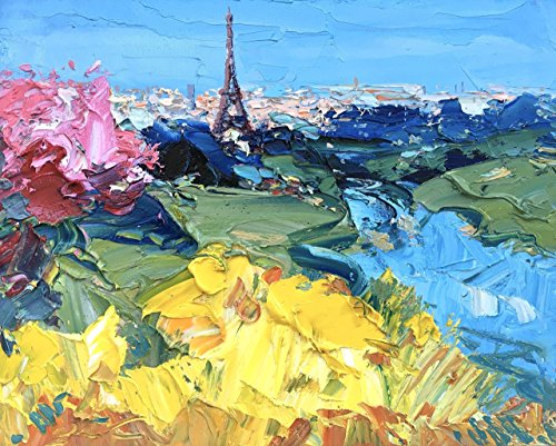 Tower Eiffel Prints Abstract Paris Wall Art Print France Cityscape Artwork Flowers Home Decor Kitchen Living Room Bedroom Christmas Gifts for Her Him Mother Parents Agostino Veroni - Portofino Wall Tapestry