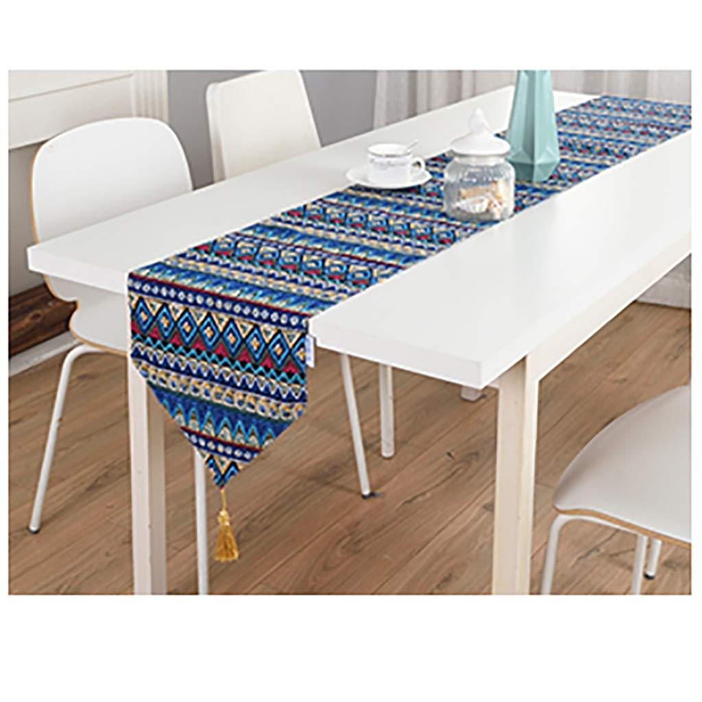 Z&J Table Runners Ethnische Stil Baumwolle und Leinen TV Schrank Tisch Couchtisch Tischläufer Table Runners (Farbe   B, größe   30  180cm) B07JW7D2FK Tischdecken Mangelware  | Starker Wert