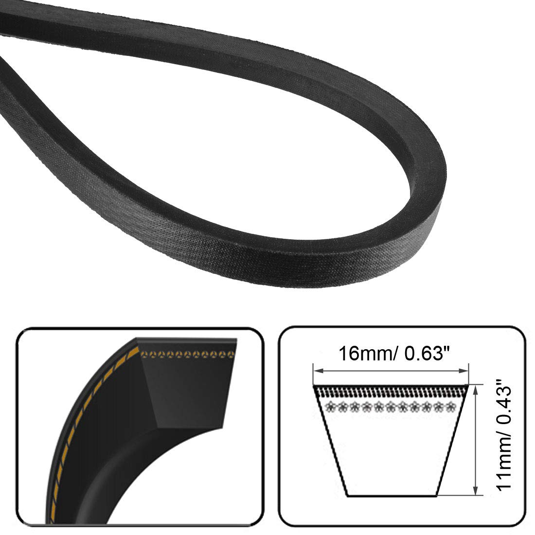 uxcell/® B-3810//B150 Drive V-Belt Inner Girth 150-inch Industrial Power Rubber Transmission Belt
