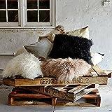 Eightmood Black Mongolian Sheepskin Cushion