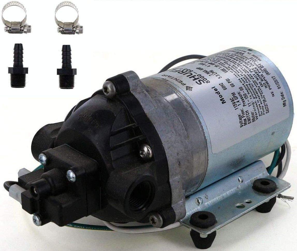 Shurflo 8000-533-236 Automatic-Demand 115 VAC Diaphragm Pump with Male 3/8'' Hose Barb Kit (Bundle, 2 Items)