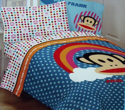 Paul Frank Rainbow Dots Comforter - Twin