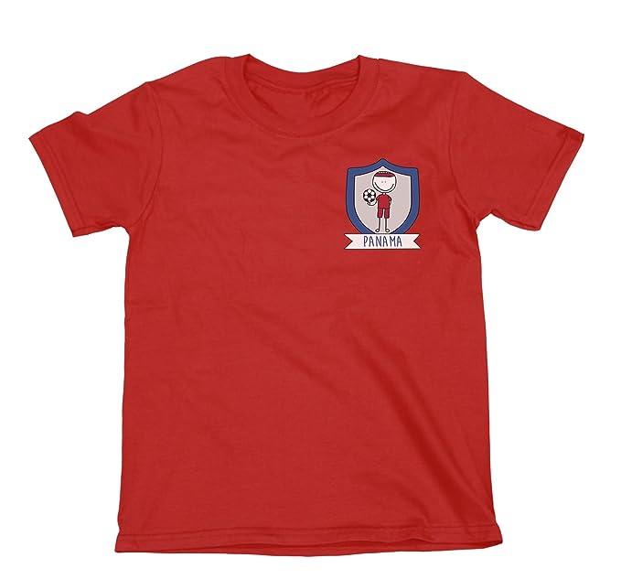 Niños O Niñas Panama Fútbol Doodle Team Badge Camiseta Copa Mundial 2018 Kids Fan Sports: Amazon.es: Ropa y accesorios