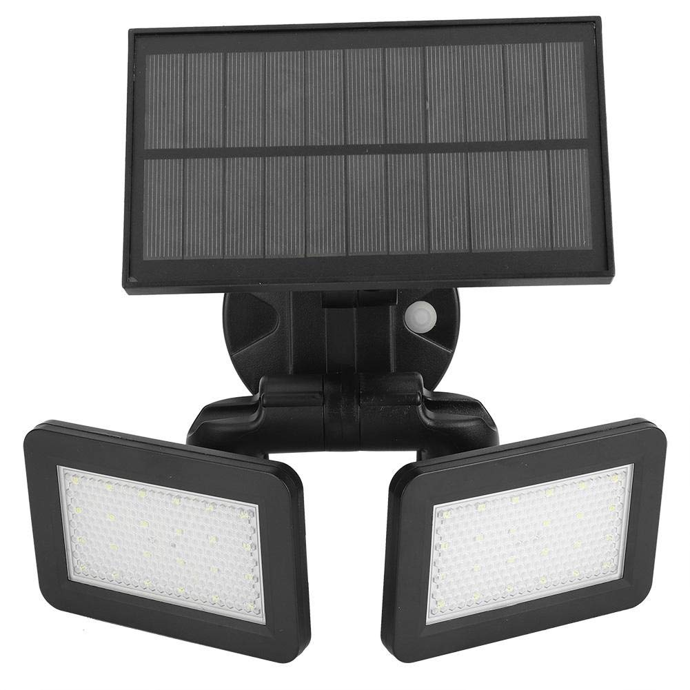 Solar Double Plate Wall Lamp, Energy Induction LED Wall Lamp Powered Waterproof Motion-Activated Light Garden Path Lamp with Adjustable Angle