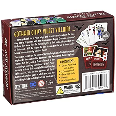 Cryptozoic Entertainment Batman Almost Got Im Card Game (8 Player): Toys & Games
