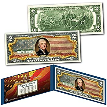 Colorized Genuine Legal Tender US $2 Bill NASA MAN IN SPACE 50th Anniversary