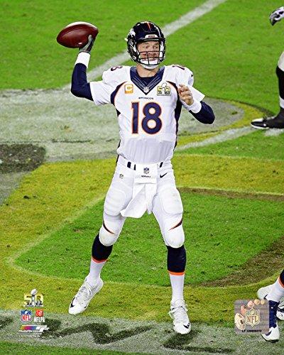 Bowl Manning Photograph - Peyton Manning - Super Bowl 50 NFL Photo (8x10)