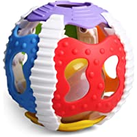 Konig Kids Baby 2 in 1 Gym Musical Textured Rattle Ball with Sound and Light