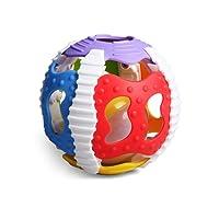 Konig Kids Rattle & Ball Gym 2 in 1 gomma musicale giocattolo con palla fitness suono e luce, materiali morbidi con colori vivaci, sicurezza e anticaduta per neonati e bambini 6 + mesi