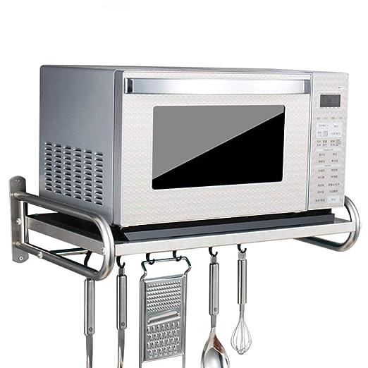 304 acero inoxidable estante para microondas/estantes de cocina (Tamaño: 53 * 38 * 18cm)