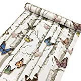 Contact Paper Decorative Colorful Butterfly Self Adhesive Shelf Liner Peel and Stick Wallpaper for Kitchen Cabinets Drawers Shelves Countertops Windows Walls Crafts 17.7'' x 393''