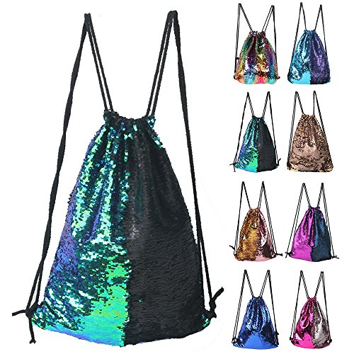 Winmany Mermaid Sequin Backpack Glittering Outdoor ...