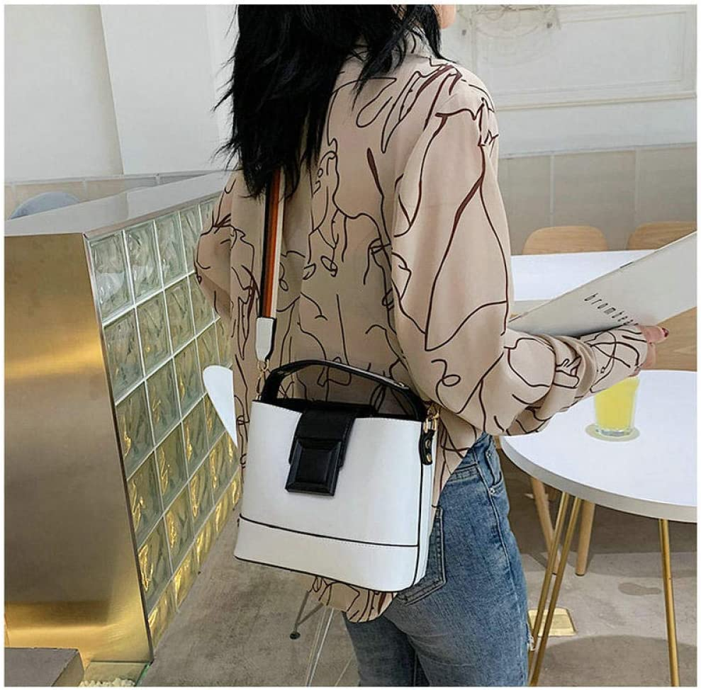 LANDONA Neue Matcha grün Eimer Tasche PU weiblichen Beutel Mode Messenger Bag Frau große Kapazität Tasche C43-33 @ Pink A1774
