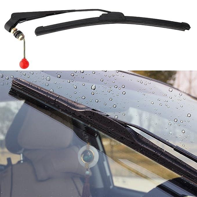 Green Car & Motorbike Care Automotive Fliyeong Car Window Glass Cleaning Brush Tools Portable Car Windshield Brush Microfiber Cloth Long Handled Window Brush