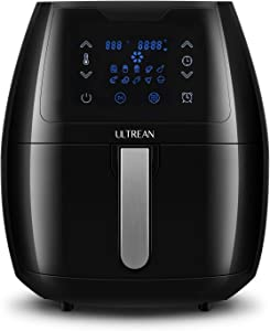 Ultrean 5.8 Quart Air Fryer, Electric Hot Air Fryers Oilless Cooker with 8 Presets, Digital LCD Touch Screen, Nonstick Basket, 1700W, UL Listed