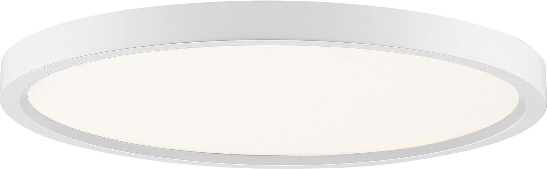 Quoizel OST1715W Outskirt Modern Super Flush Mount Ceiling Lighting, 1-Light, LED 30 Watts, Fresco (1