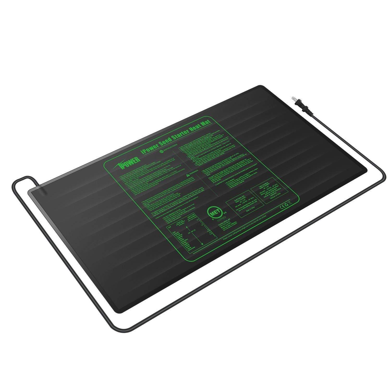 iPower GLHTMTLX2 2-Pack Durable Waterproof Seedling 48'' x 20'' Warm Hydroponic Heating Pad MET Standard, Black by iPower (Image #6)